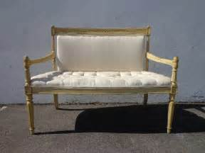 Provincial Settee by Bench Settee Loveseat Provincial Boudoir Vanity Bed