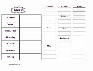 meal planning and grocery list grocery list template With meal planning template with grocery list