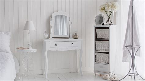 white shabby chic dressing table cute white dressing table for shabby chic bedroom decor with wicker baskets and elegant wall