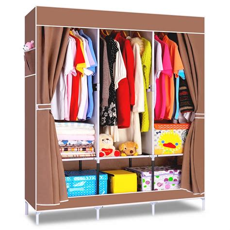 Clothes Wardrobe by House Scenery Non Woven Folding Fabric Wardrobe Storage