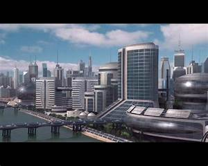 Futuristic Cityscape Wallpaper HD - WallpaperSafari