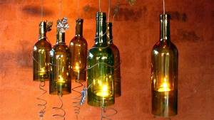 recycled wine bottles made into a hurricane candle holder With kitchen colors with white cabinets with candle holders for wine bottles