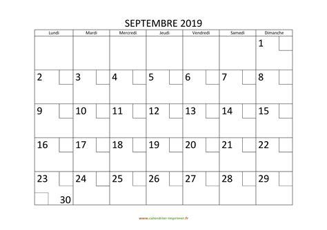 calendrier septembre   imprimer