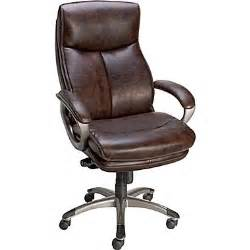 staples eckert bonded leather mid back office chair brown