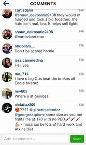 Gilbert Melendez takes pic with GSP on Instagram; Nick ...