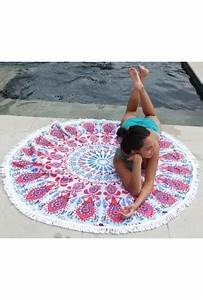Serviette De Plage Ronde Coton : serviette de plage ronde serviette ronde pour la plage ~ Teatrodelosmanantiales.com Idées de Décoration