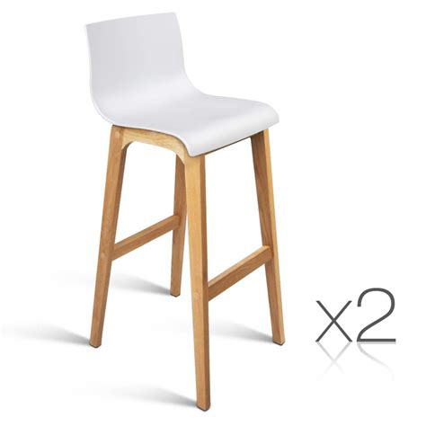 Wooden Bar Chairs With Backs by 2 Oak Wood Bar Stools Wooden Dining Chairs Kitchen High