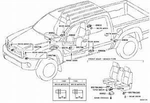 2014 Toyota Tacoma Seat Track Position Sensor  Electrical
