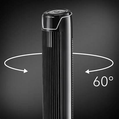 Tve Turmventilator Oszillation Trotec Automatische Zuschaltbare Raum
