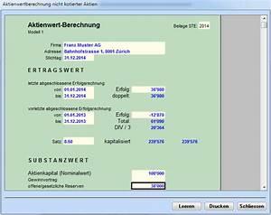 Tagesmutter Steuern Berechnen : aktienwert nicht kotierter aktien ~ Themetempest.com Abrechnung
