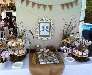 rustic bridal shower dessert table bridal shower With rustic wedding shower decorations