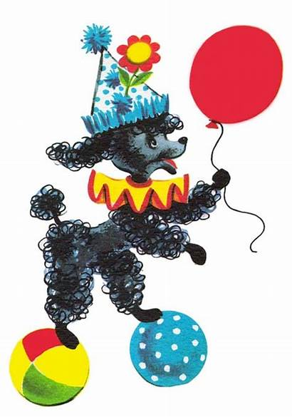Poodle Clipart Birthday Clip Party Happy Dog
