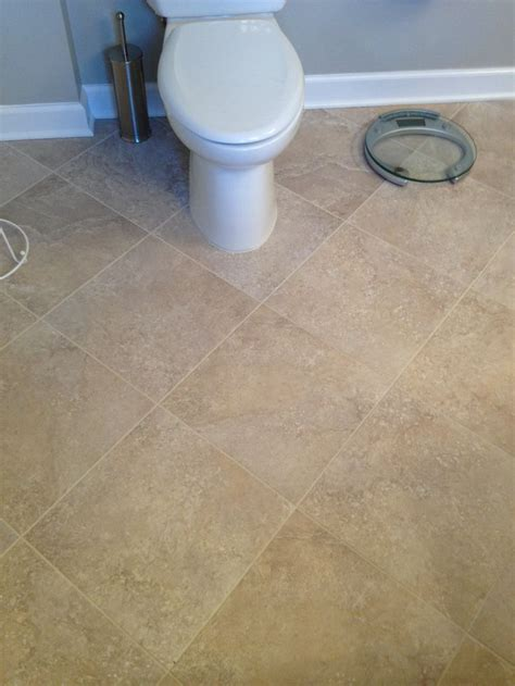 bathroom completed with mannington adura vinyl tile with