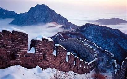 China Wall Wallpapers Snow