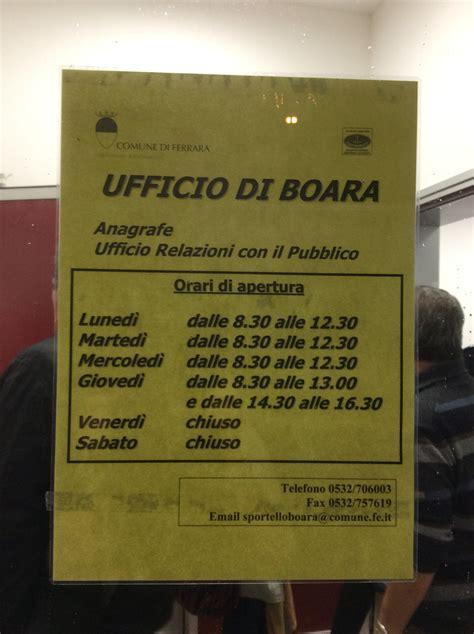 Ufficio Anagrafe Ferrara Apertura Nuovo Quot Sportello Di Boara Quot Con Anagrafe E Urp