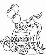 Easter Coloring Pages Printable Bunny Rabbit sketch template