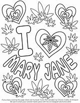 Coloring Weed Stoner Cannabis Marijuana 420 Printable Trippy Drawings Soup Stone Leaf Valentine Adults Fresh Chronic Crafter Easy Getcolorings Popular sketch template