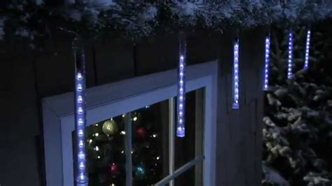 philips led cascading icicle light set youtube