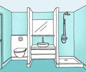Plan Petite Salle De Bain Avec Wc : r novation salle de bains guide prix devis r novation ~ Melissatoandfro.com Idées de Décoration