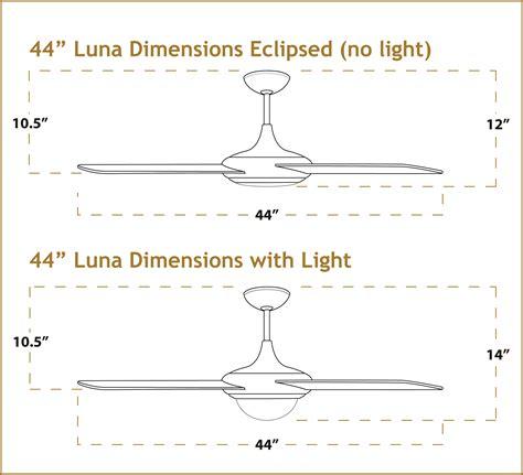 44 inch ceiling fan room size ceiling fan dimensions integralbook com