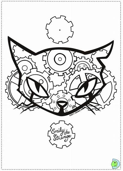 Coloring Weird Pages Emily Strange Dinokids Printable