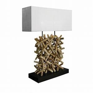 Lampe Bois Flotté : lampe en bois flott s oul d co au style ethnique ~ Teatrodelosmanantiales.com Idées de Décoration