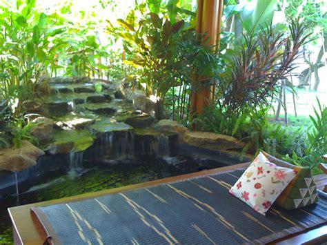 Traditional Thai Garden Waterfall