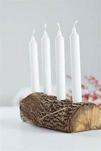 Adventsdeko Aus Naturmaterialien : do it yourself schlichter adventskranz aus holz diy ~ Watch28wear.com Haus und Dekorationen