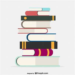 Books pile Vector | Free Download