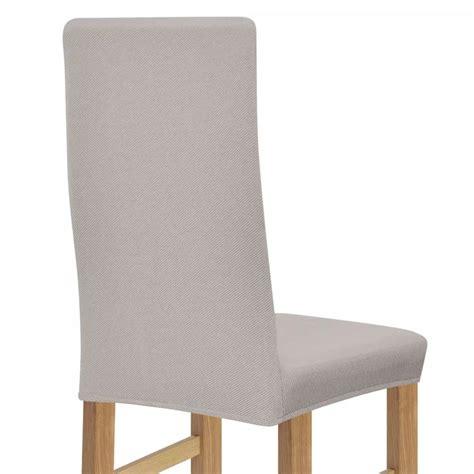 housse de chaise ecru acheter vidaxl housse de chaise en polyester tricoté