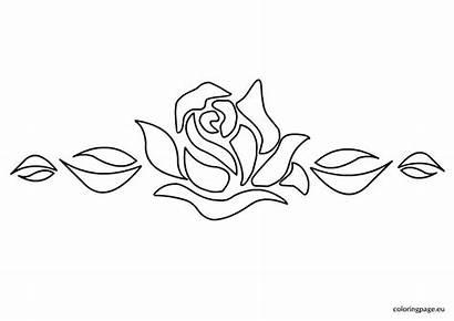 Stencil Rose Flower Designs Stencils Flowers Malvorlagen