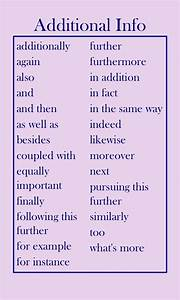 Transition Words For Contrast Transition Words Adding Additional Information Writer