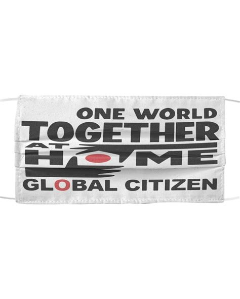 One World Together At Home cloth face mask - Cusstee