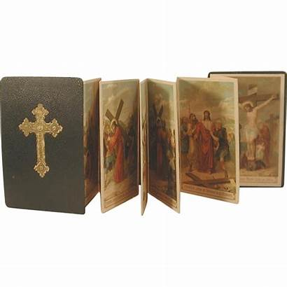 Cross Stations Catholic Booklet French Antique Lithographs
