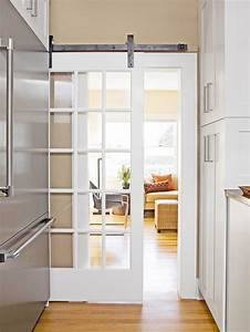 How my mind wanders yellow turquoise white kitchen for Barn door style french doors