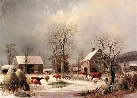 civil war blog george  durrie rural winter scenes