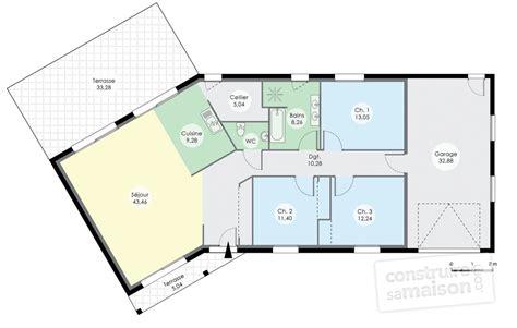 plan interieur maison plain pied maison de plain pied 7 d 233 du plan de maison de plain pied 7 faire construire sa maison
