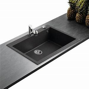 Evier Noir 1 Bac : vier en granit noir mouchet 1 grande cuve ~ Dailycaller-alerts.com Idées de Décoration