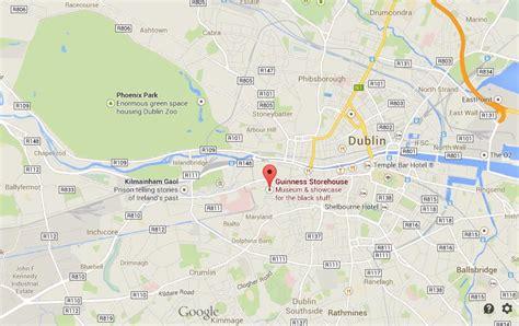 guinness storehouse  map  dublin