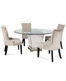 marais dining room furniture 5 piece set 54 quot mirrored