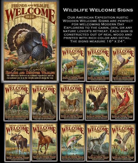 Wildlife Signs, Home Decor, Fishing Gifts, Hunting Gifts