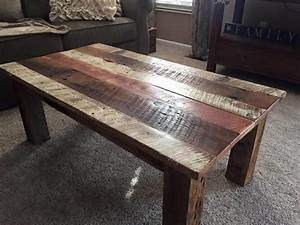 diy reclaimed barn wood coffee table diy and crafts With barn wood top coffee table