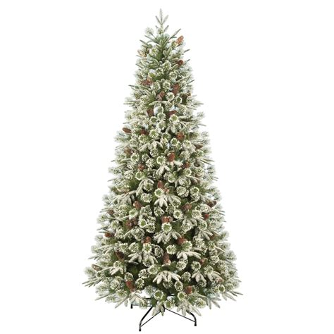 home base artificial christmas trees 7ft emperor snowy artificial tree at homebase co uk