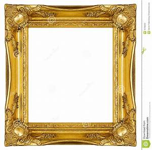 Ornate Gold Frame stock photo. Image of antique, painting ...