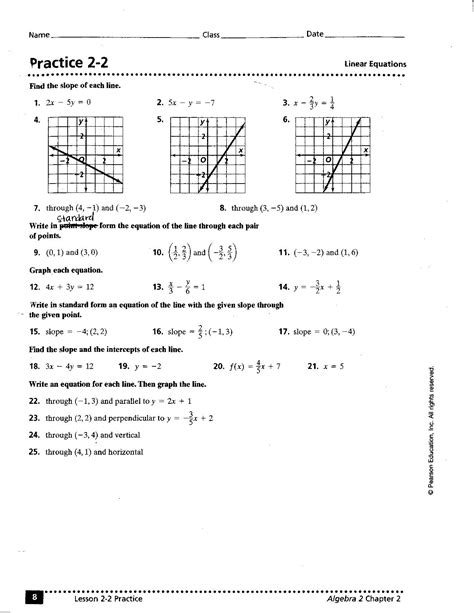 8 Best Images Of Writing Linear Functions Worksheets  Algebra 1 Step Equation Problems