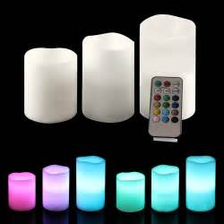 led flameless flickering light candle candles with remote timer 3 pc set ebay