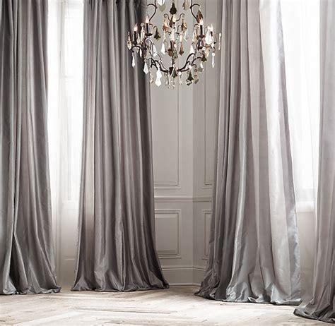 silk taffeta pavilion stripe drapery with zinc furnishings