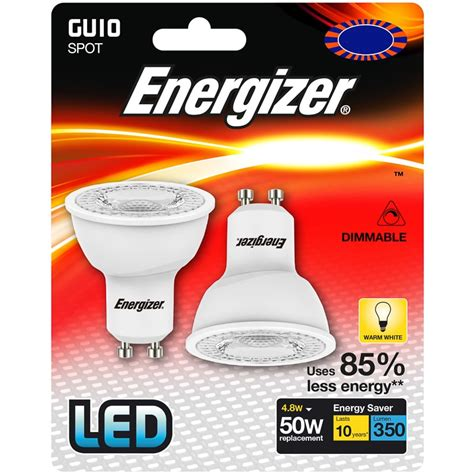 light bulb and battery store energizer led 50w gu10 dimmable bulb 2pk lighting b m