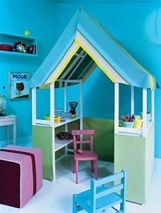 Cabane Chambre Enfant : bricolage une cabane d 39 enfant marie claire ~ Teatrodelosmanantiales.com Idées de Décoration