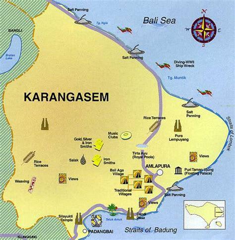 kd bali designs bali map karangasem district
